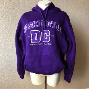 DC One purple Washington DC hoodie